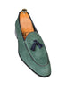 Handmade Green Loafer Suede Men Shoes