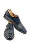 Handmade Blue and Blue Snake Leather Monk Strap Men Shoes