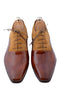 Handmade Wooden Brown Beige Men Shoes
