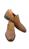 Handmade Brown and Beige 3 Button Up Men Shoes