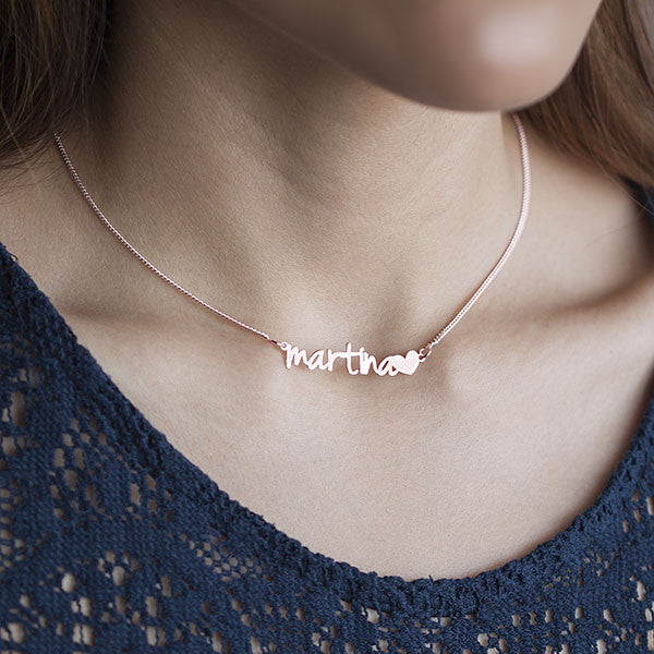 Collar Personalizado Sue Heart Rose - singularu