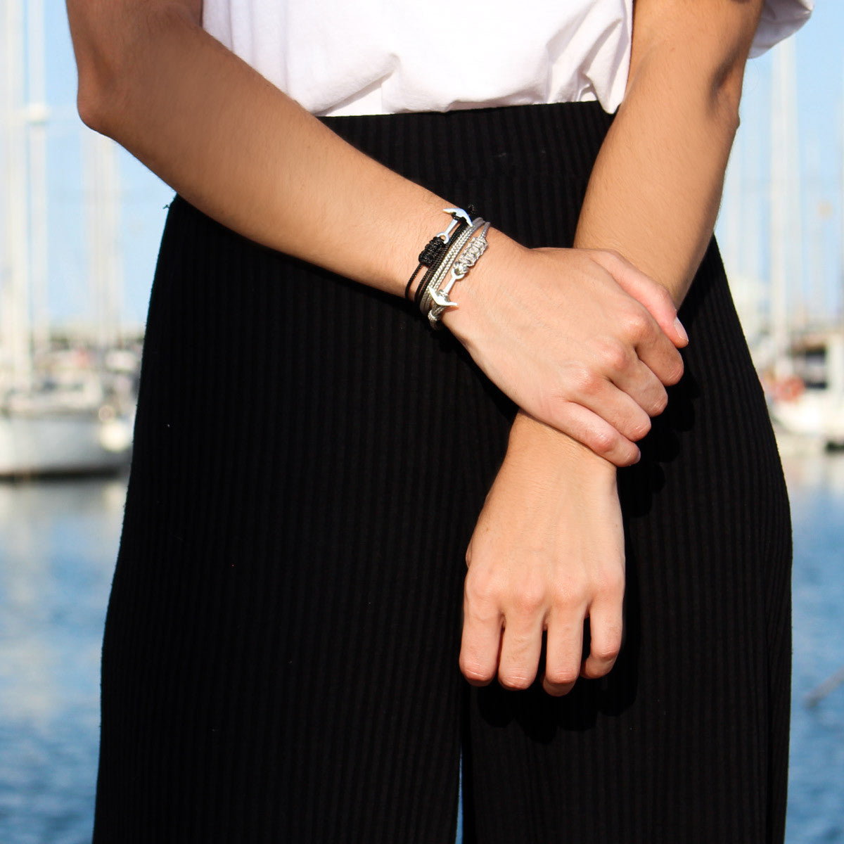 Pulsera Ancla Sea Black