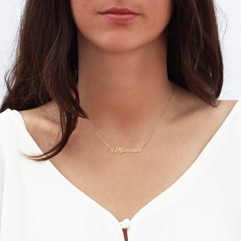 Collar Personalizable Bliss Oro Macizo 18k