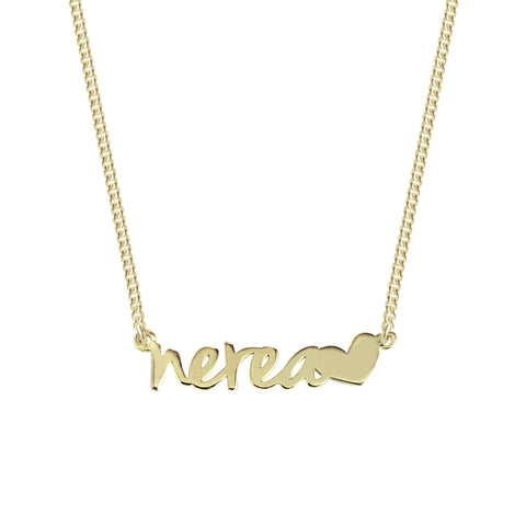 Collar Personalizado Sue Heart Oro