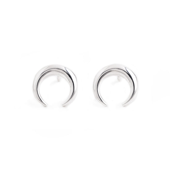 Pendientes Mini Moonset Plata - singularu