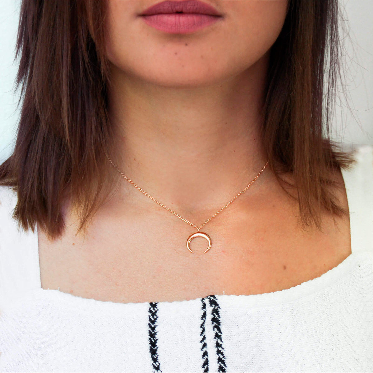 Collar Moonset Oro Rosa - singularu