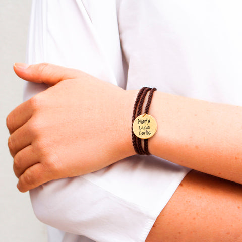 Pulsera Personalizable Dream Chocolate Oro
