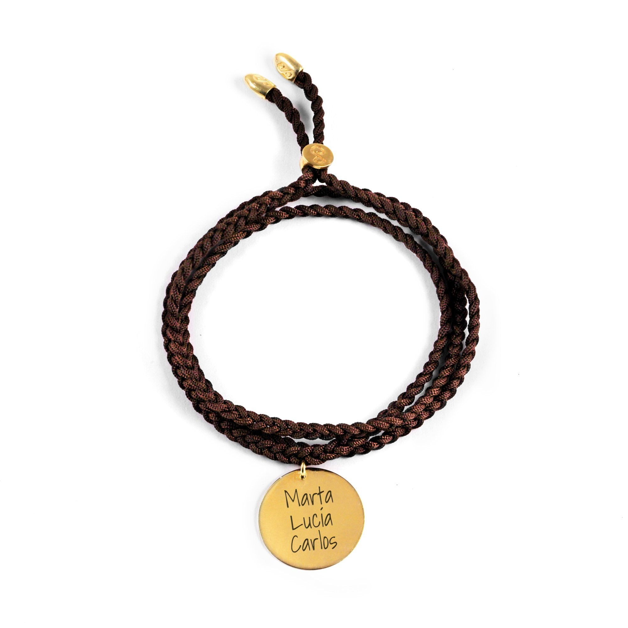 Pulsera Personalizada Dream Chocolate Oro- Singularu