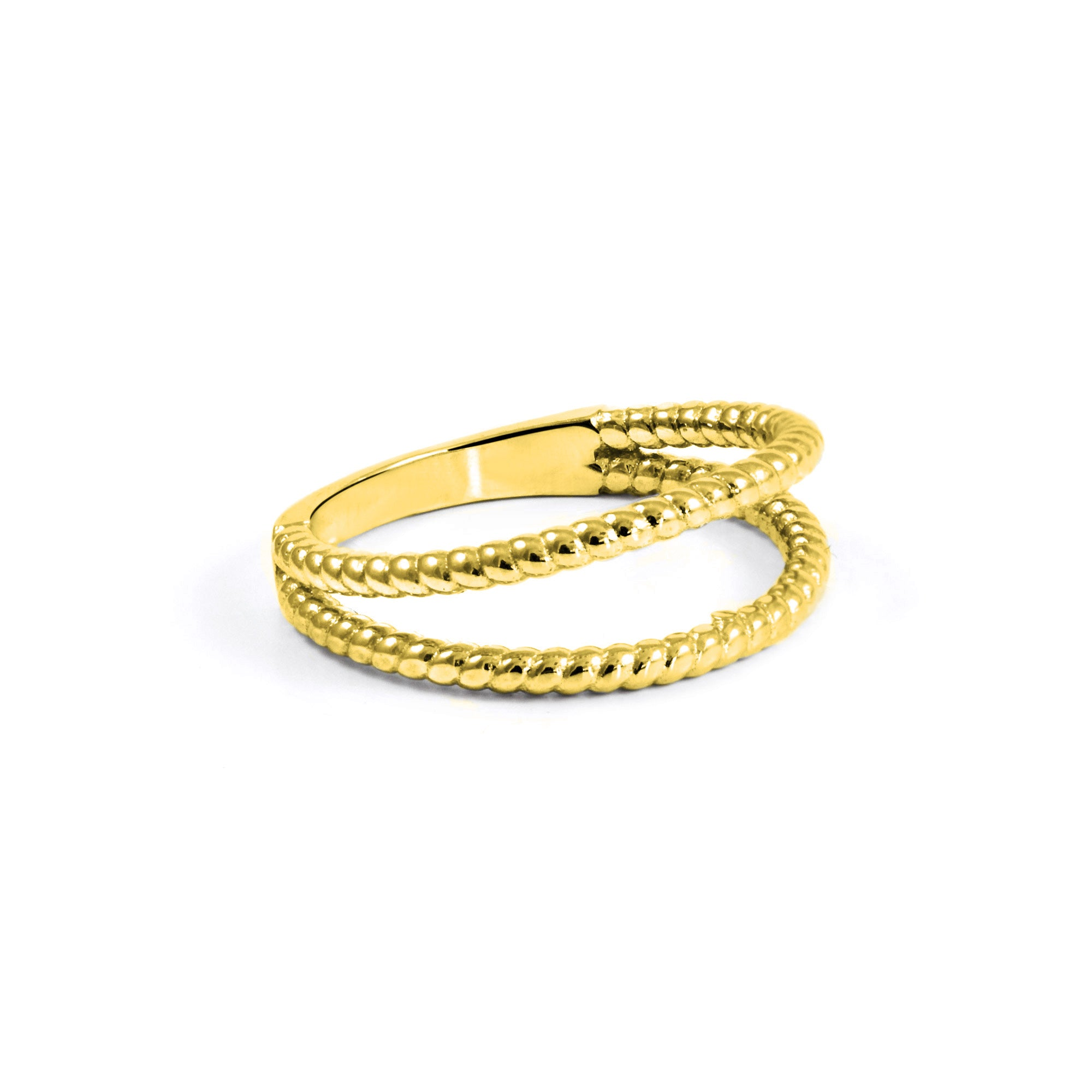 Anillo Double Twist Oro- Singularu