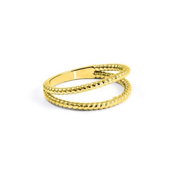 Anillo Double Twist Oro - singularu