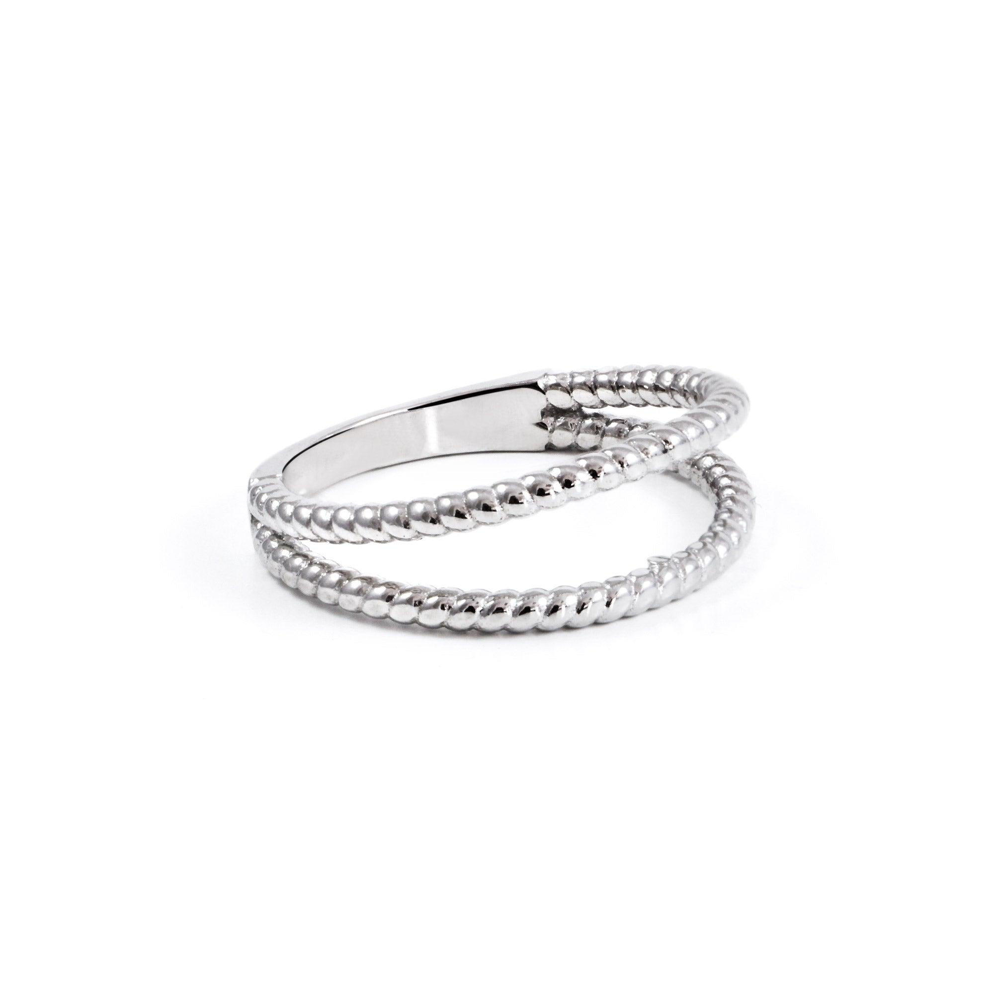 Anillo Double Twist Plata - singularu