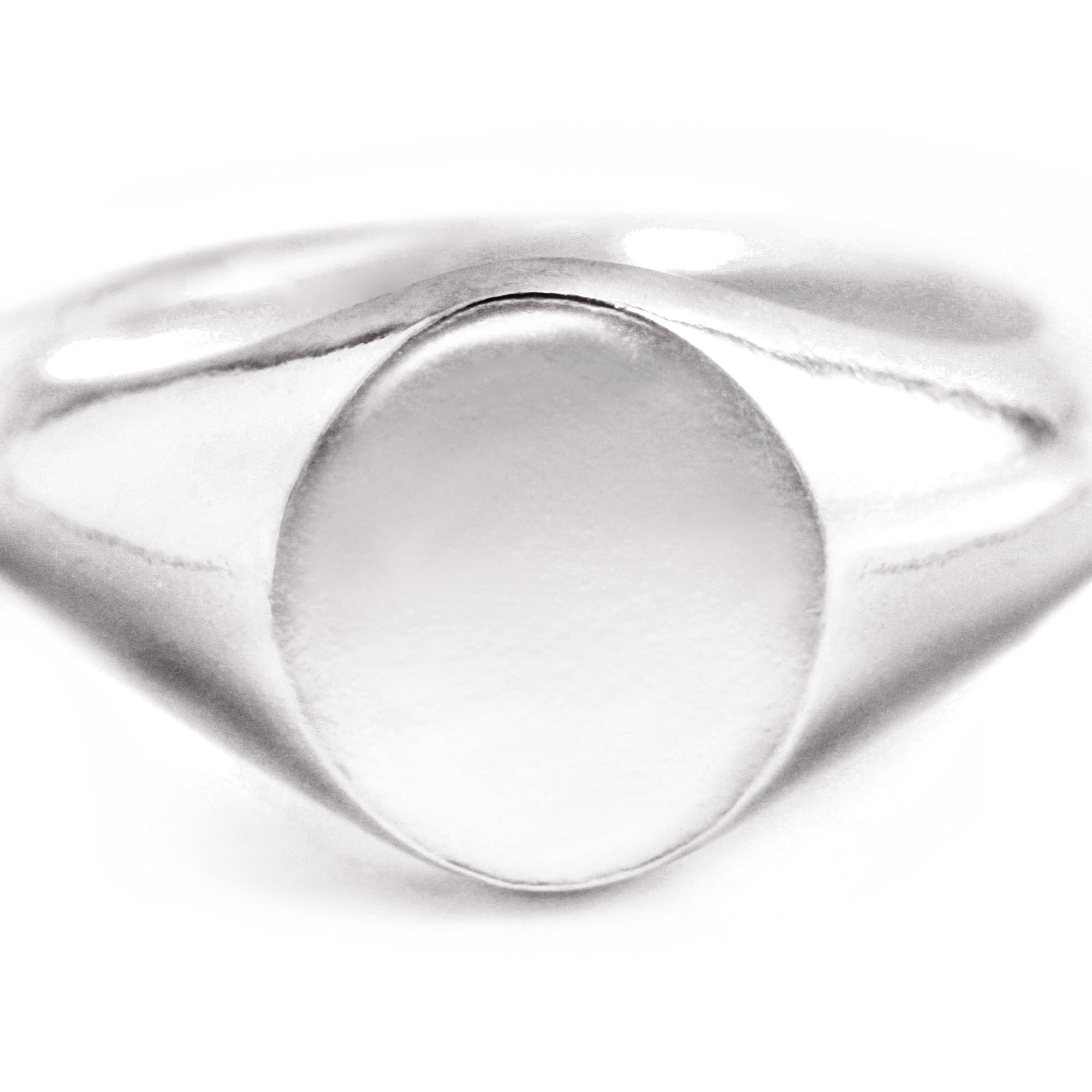 Anillo Sello Meñique Circle Plata - singularu