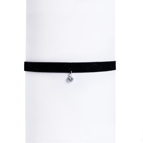 Collar Choker Diamond Plata