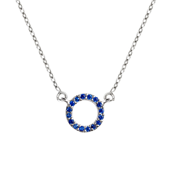 Collar Circle Blue Plata - singularu
