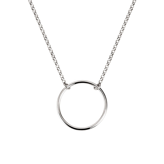 Collar Circle Ring Plata - singularu