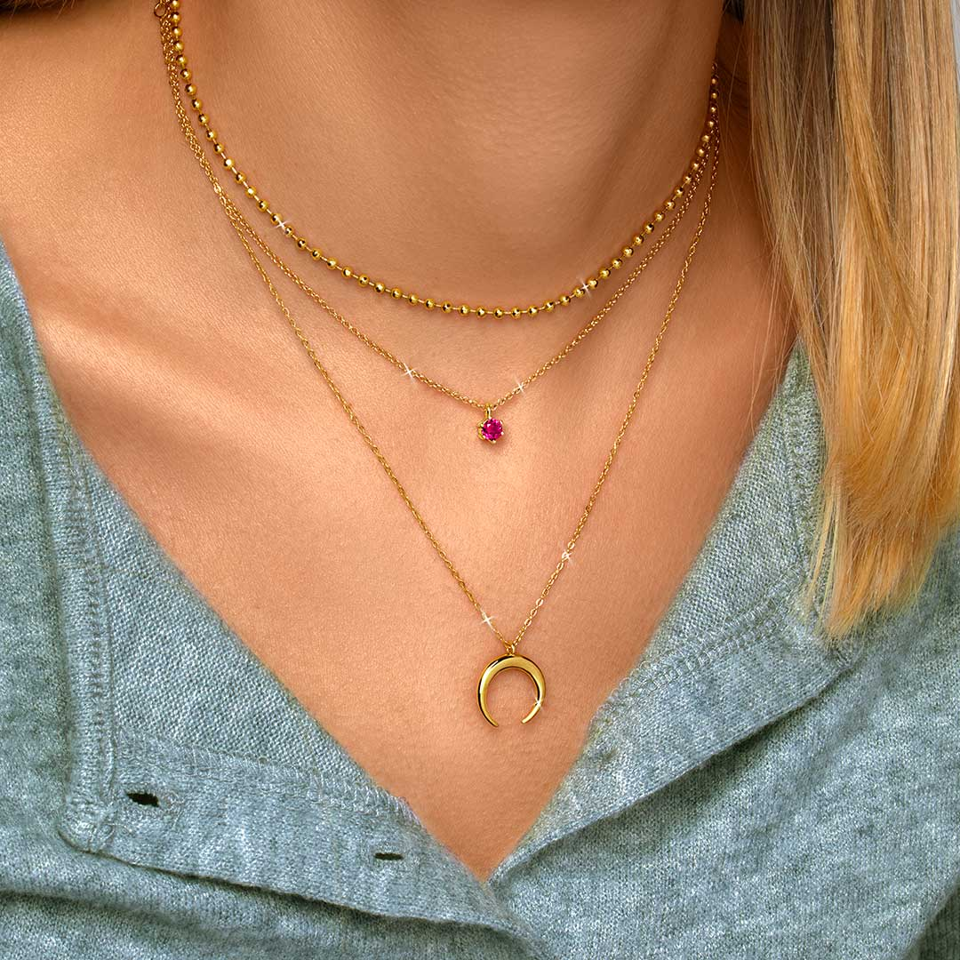 Collar Sophie Raspberry Oro