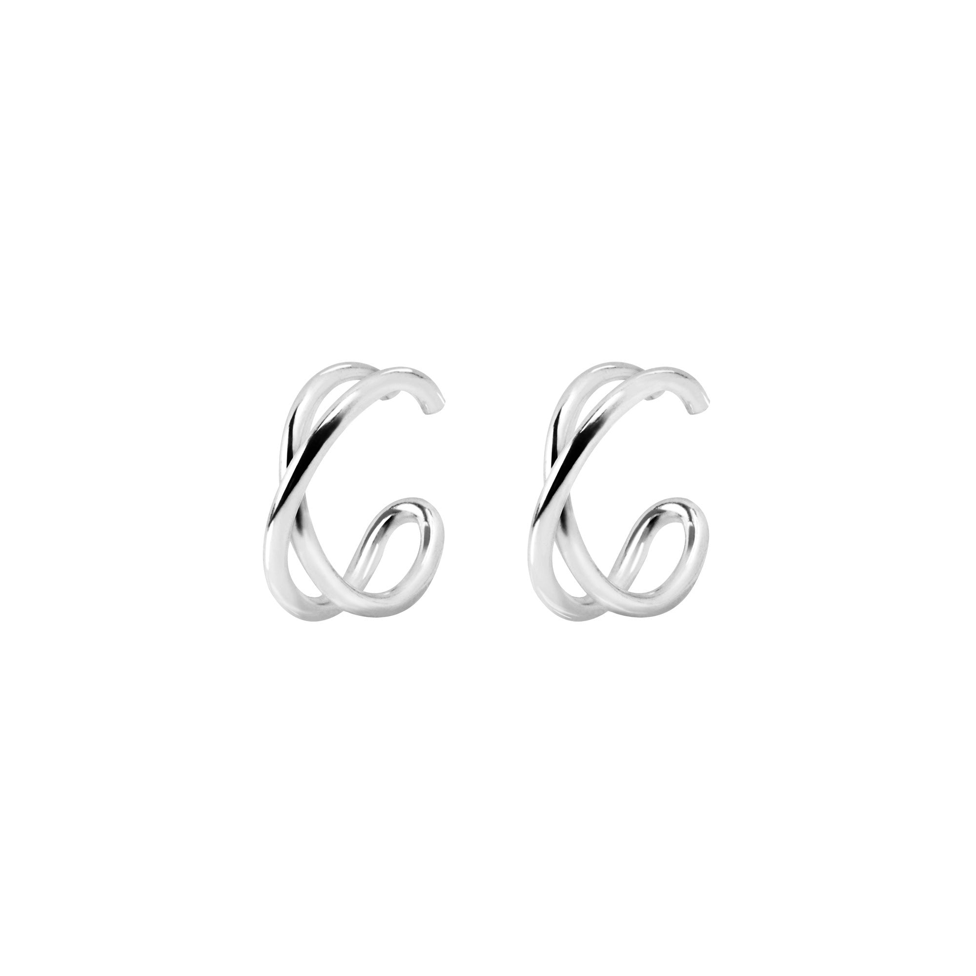 Pendientes Ear Cuff Cross Plata- Singularu