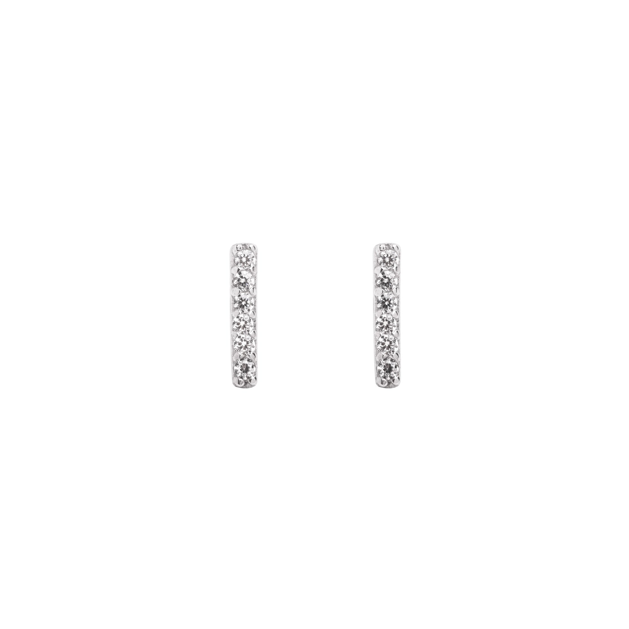 Pendientes Diamonds Stick Plata - singularu