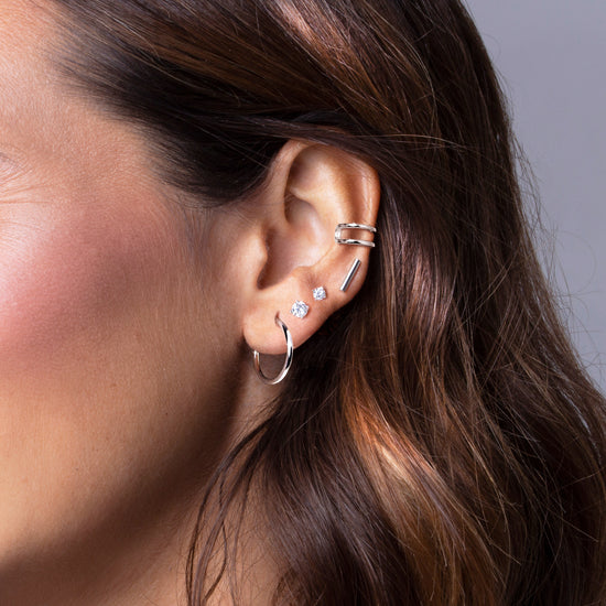Pendientes Ear Cuff Double Ring Plata - singularu