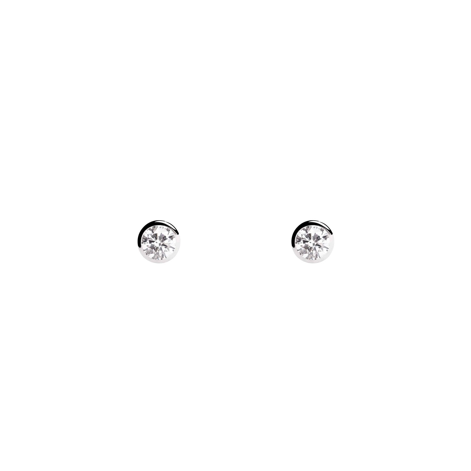 Pendientes Mini Spark 3mm Plata