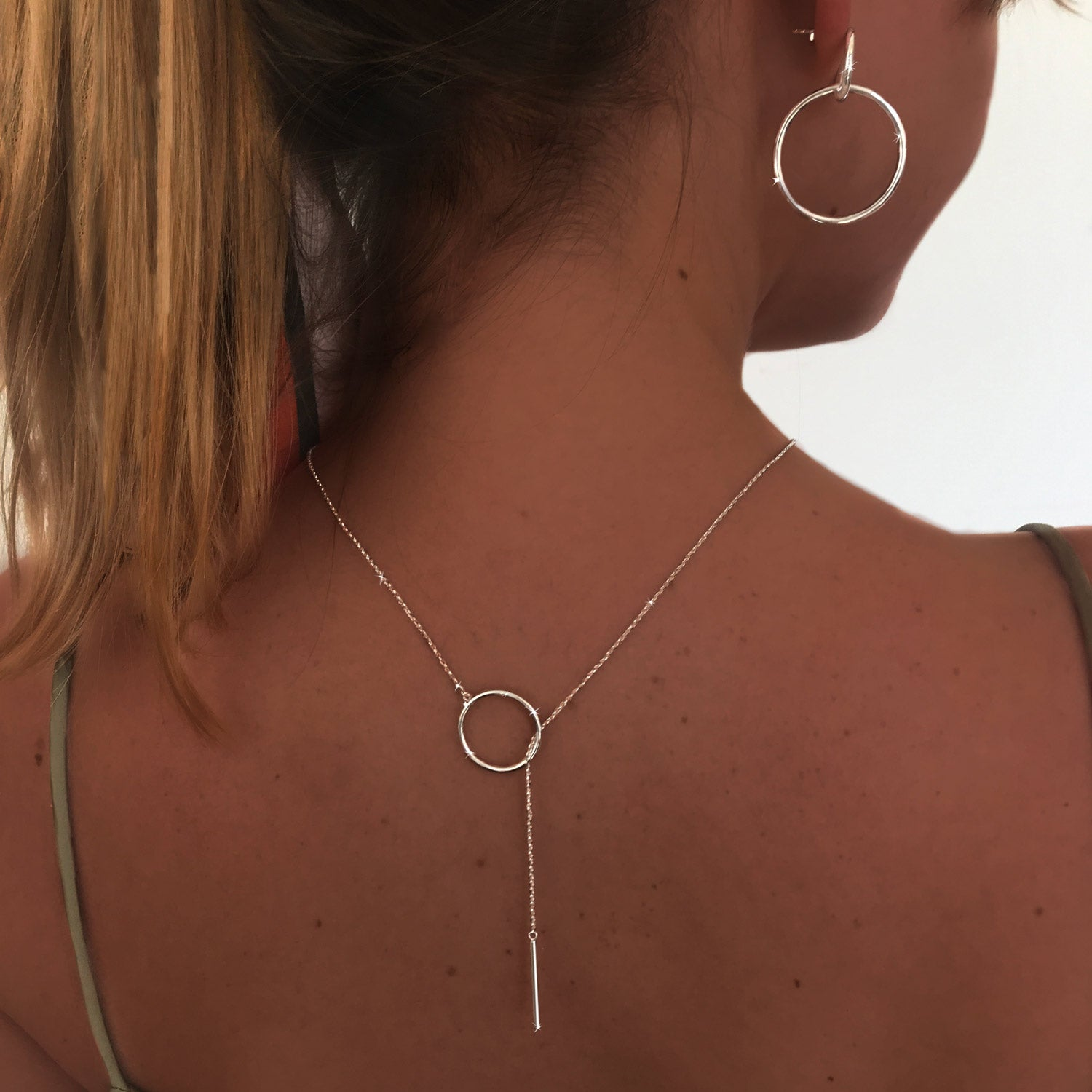 Collar Circle Stick Plata - singularu