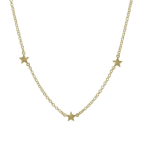Collar Siluet Star Plata
