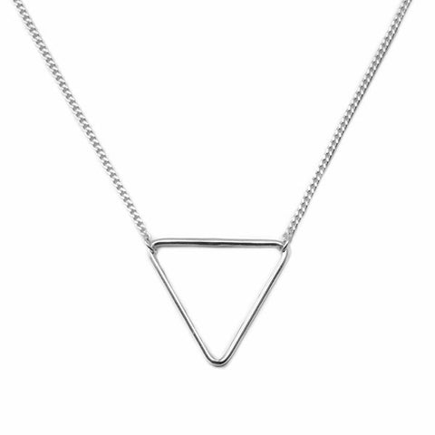 Collar Triangular Plata - singularu