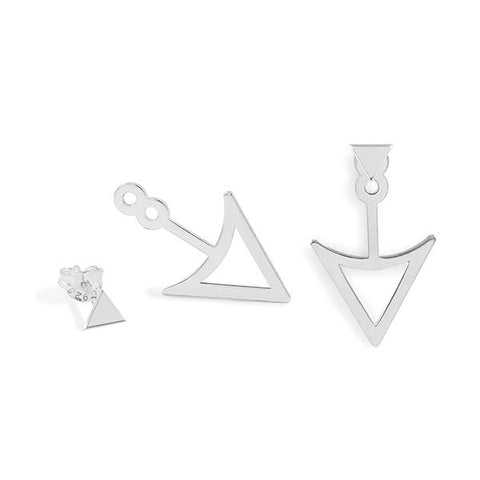 Pendientes Arrow Jacket Plata