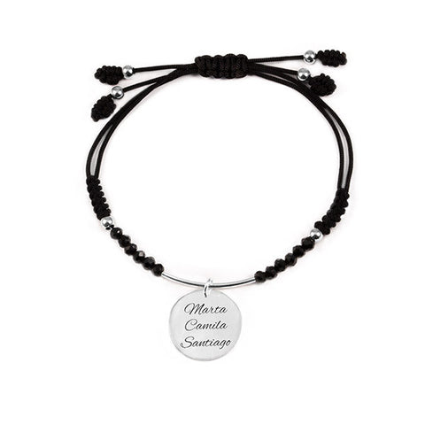 Pulsera Personalizable Dream Noir Plata