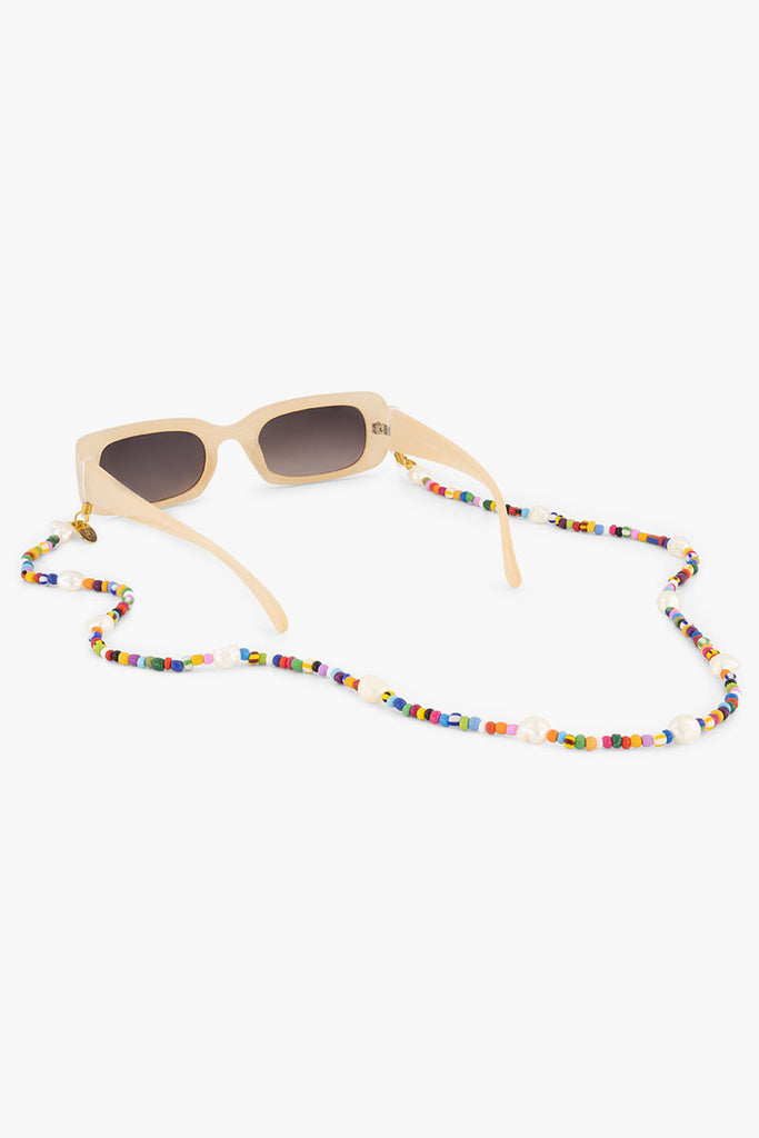 glasses straps made of multicolored beads and natural fresh water pearls