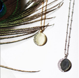 Moon Disc Gold Necklace