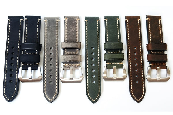 Buy Genuine Italian Cow Leather Two-Piece Watch Strap