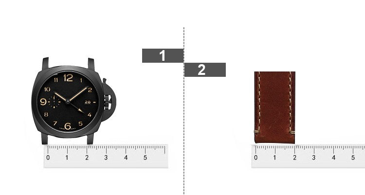 Watch strap size guide