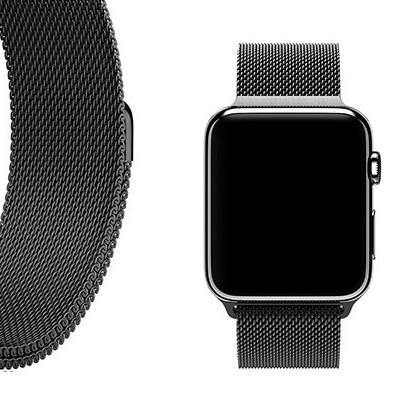 BLACK MILANESE APPLE WATCH BAND