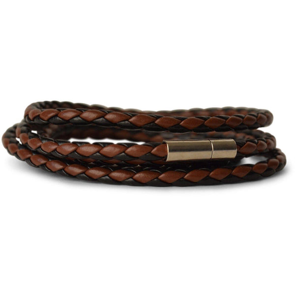 BROWN / BLACK LEATHER BRACELET