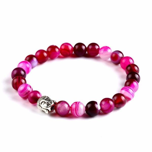 PINK & PURPLE BUDDHA BEADS