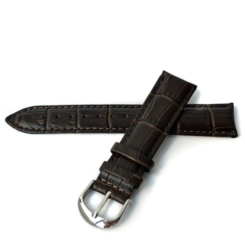 CALF CROCO DARK BROWN
