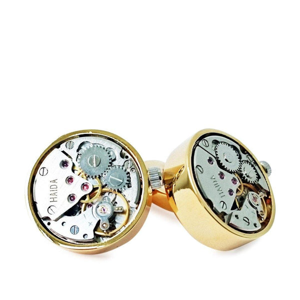 GOLD AUTOMATIC CUFFLINKS