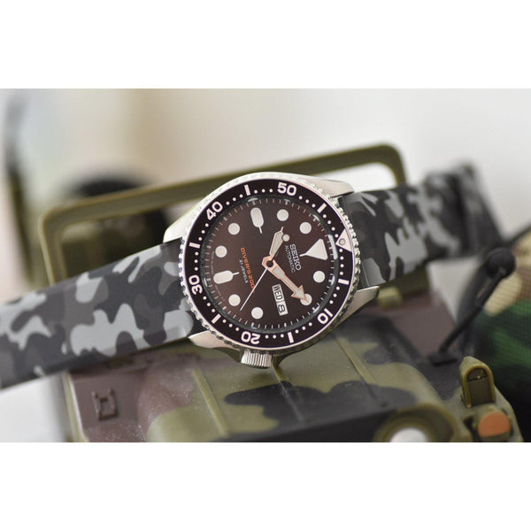 SILICONE CAMO GREY - The Sydney Strap Co.