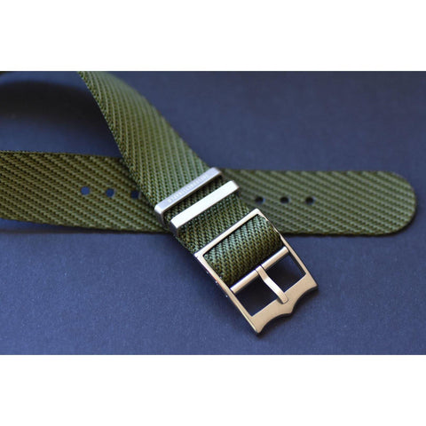 SINGLE PASS-ARMY GREEN - The Sydney Strap Co.