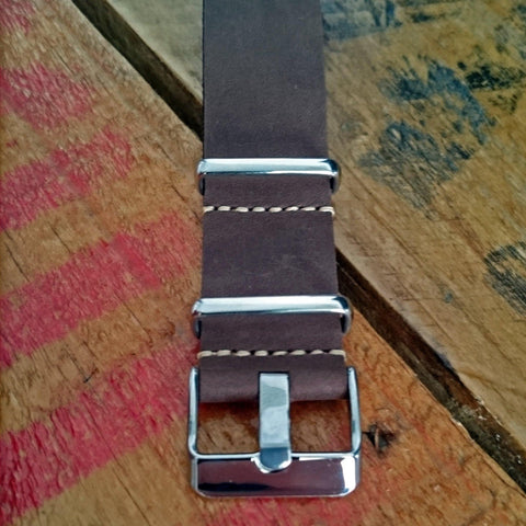 LUX LEATHER DARK BROWN NATO