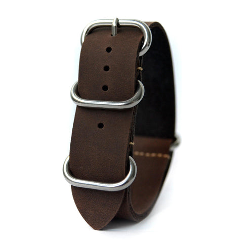 LUX LEATHER DARK BROWN ZULU