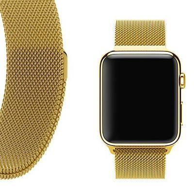 GOLD MILANESE APPLE WATCH BAND