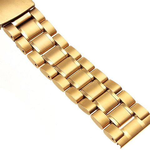 GOLD SOLID STEEL BRACELET - The Sydney Strap Co.