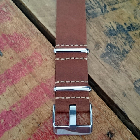 LUX LEATHER LIGHT BROWN NATO