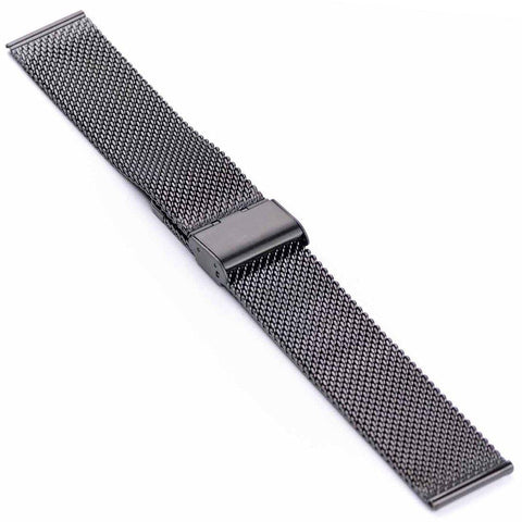 BLACK MILANESE MESH BRACELET - The Sydney Strap Co.