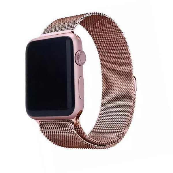 1664dc9d859 Rose Gold Magnetic Milanese Loop Mesh Apple Watchband Strap – The Sydney  Strap Co.