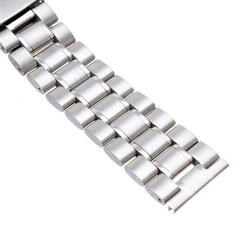 SILVER SOLID STEEL BRACELET - The Sydney Strap Co.