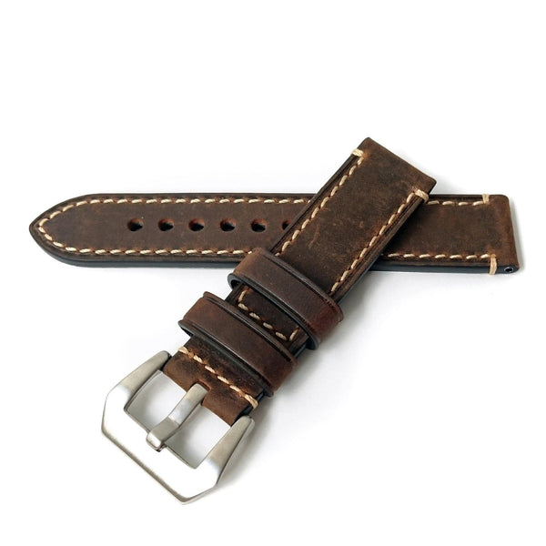 ITALIAN VINTAGE BROWN LEATHER - The Sydney Strap Co.