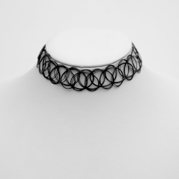 LARGE TATTOO CHOKER (CLICK FOR 2 COLORS)